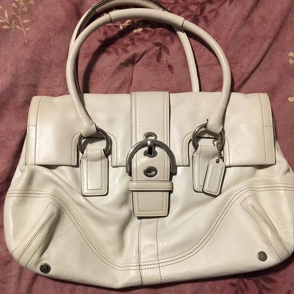 Coach Handbags - Winter white leather coach bag